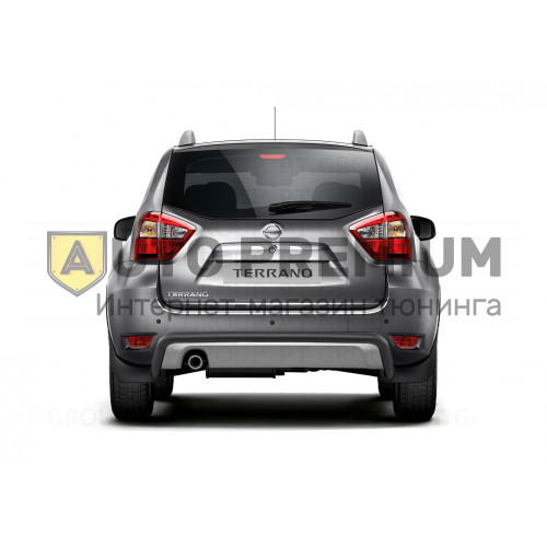 Защита заднего бампера Ø51 мм (ППК) на Nissan Terrano с 2014 на автомобиль